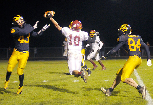 Don Knight/The Herald Bulletin<br /> Shenandoah hosted Scecina for the sectional championship on Friday.