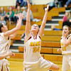 Don Knight / The Herald Bulletin<br /> Alexandria's Macie Cox grabs a rebound as the Tigers hosted Shenandoah on Saturday.