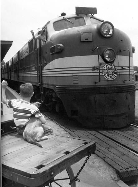 Boy & Dog  (Seaboard Air Line Company Photographer)