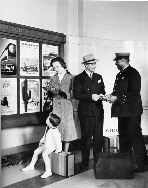 At the Depot:  Pennsylvania Railroad Advertising Piece.