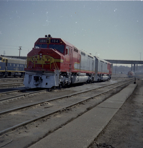 AT&SF FP45 #104 at Argentine Yard (1968).<br /> (Photo by William A. Shaffer)