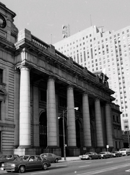 Chicago Union Station is currently the third busiest train terminal in America.  The current structure dates to 1925 and features a Beaux-Arts facade, Coronthian Columns, marble floors, and a beautiful Great Hall.<br /> (Photo by William A. Shaffer)