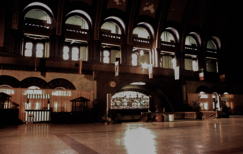 The Grand Hall of St. Louis Union Station (circa 1973)<br /> (Photo by William A. Shaffer)