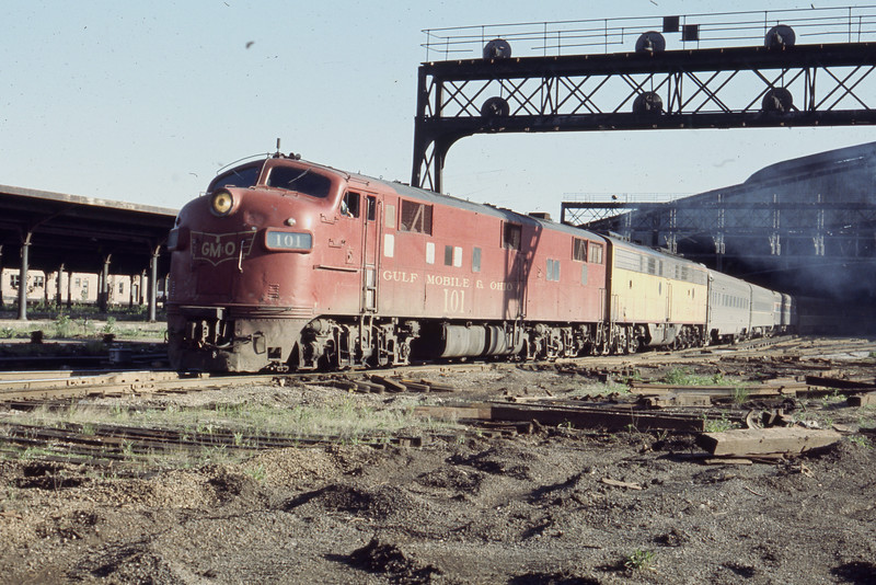 SM&O #101, an EMD E7A Locomotive, is shown<br />  at St. Louis Union Station<br /> (Photo by William A. Shaffer)