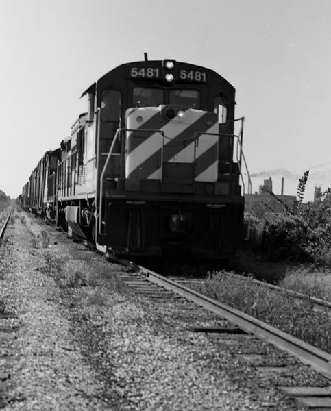 BN Locomotive #5481 near Galesburg, IL<br /> (Photo by William A. Shaffer)