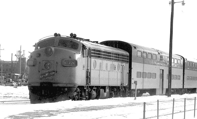 C&NW #4072C in Commuter Service in suburban Chicago (1969)<br /> (Photo by William A. Shaffer)