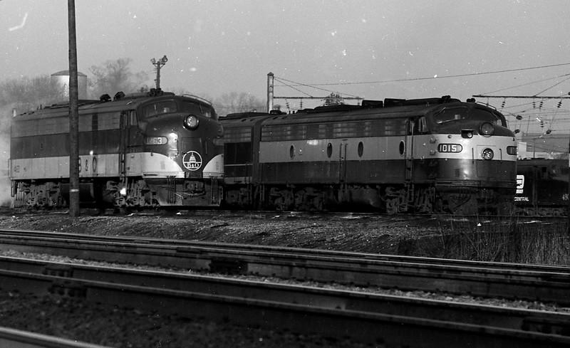 B&O E-Unit #1463 near Washington, D. C.  (1969)<br /> (Photo by William A. Shaffer)