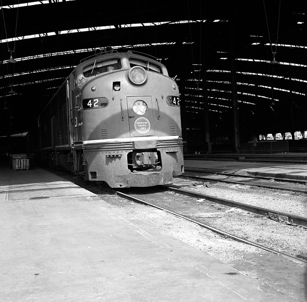 Missouri Pacific #42 at St. Louis Union Station<br /> (Photo by William A. Shaffer)