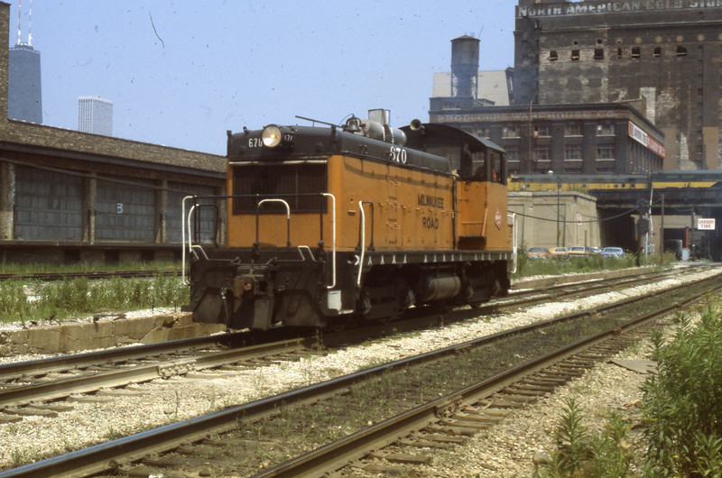 Milwaukee Road Switcher #670 in Chicago, IL<br /> (Photo by William A. Shaffer)