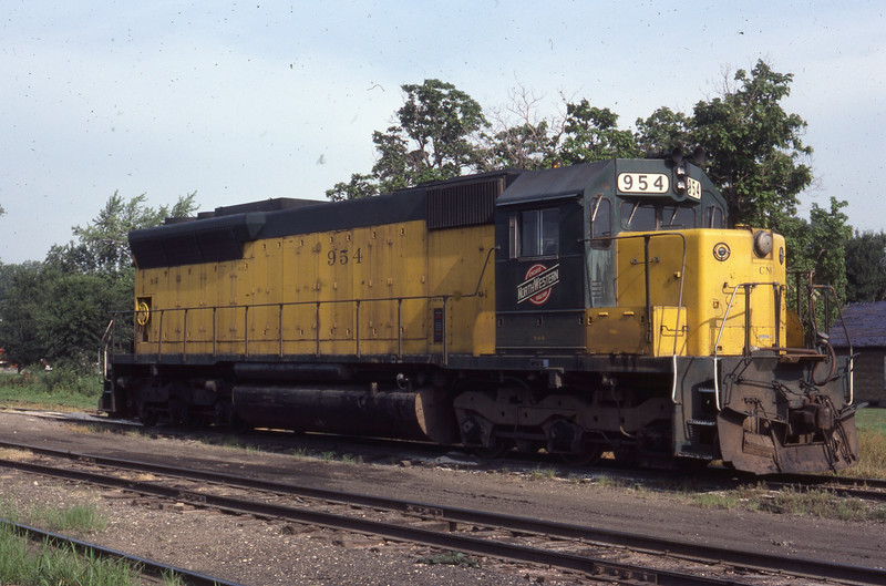 C&NW #954 in E. St. Louis, IL<br /> (Photo by William A. Shaffer)