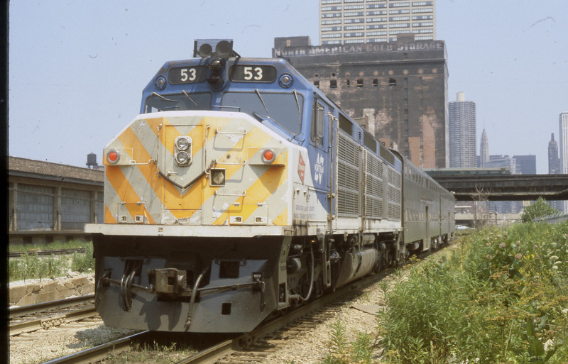 Chicago Suburban Service #53<br /> (Photo by William A. Shaffer)