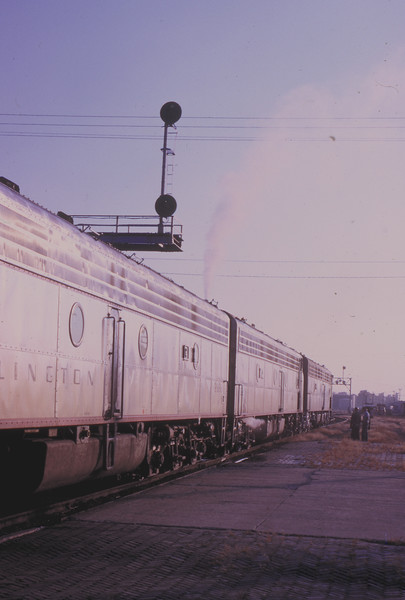 CB&Q passenger train at Galesburg, IL<br /> (Photo by William A. Shaffer)