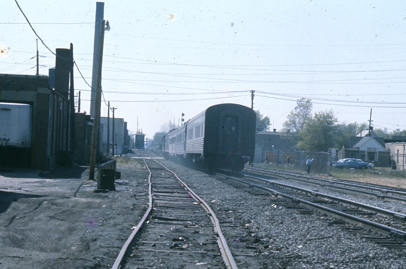 """""""Going""""  The train picks up speed and it will soon be a memory.<br /> (Photo by William A. Shaffer)"""