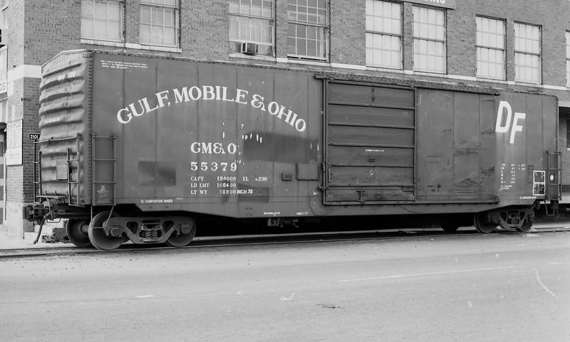 GM&O Box Car #55379 at Denver, CO (circa 1982)<br /> (Photo by William A. Shaffer)