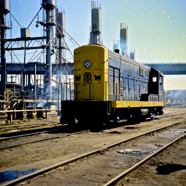 Fairbanks Morse Locomotive at Argentine Yard (1968)<br /> (Photo by William A. Shaffer)