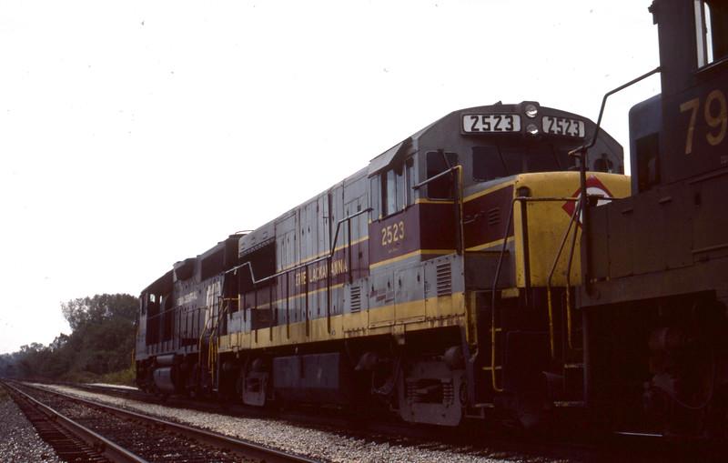 Erie-Lackawanna #2523 near Troy, IL<br /> (Photo by William A. Shaffer)