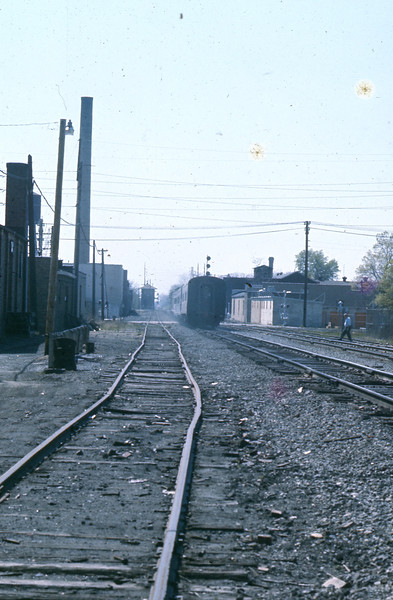 """""""Going""""  It glides down the track to its appointment to Destiny!<br /> (Photo by William A. Shaffer)"""