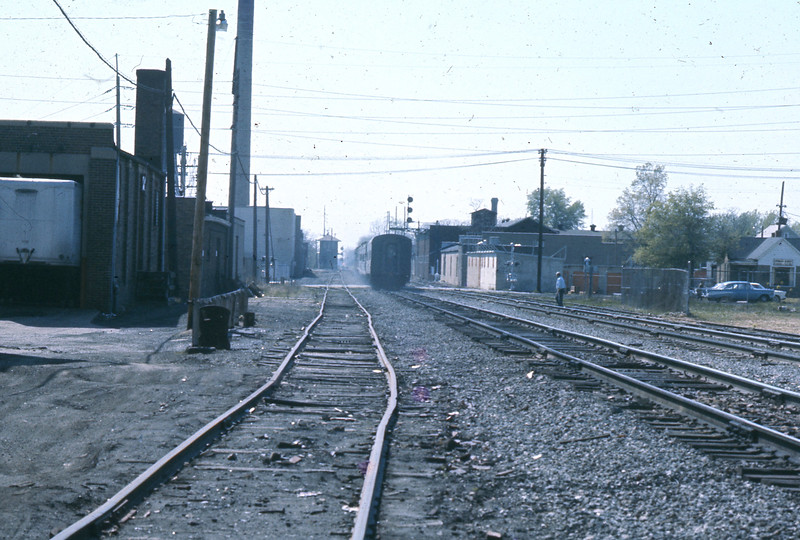 """""""Gone""""  One quick look as the """"Cannon Ball"""" accelerates down the track.  One other man who was standing by the track witnesses the scene for the last time.  That which I had so dreaded has now come to pass.  It is April 30, 1971."""