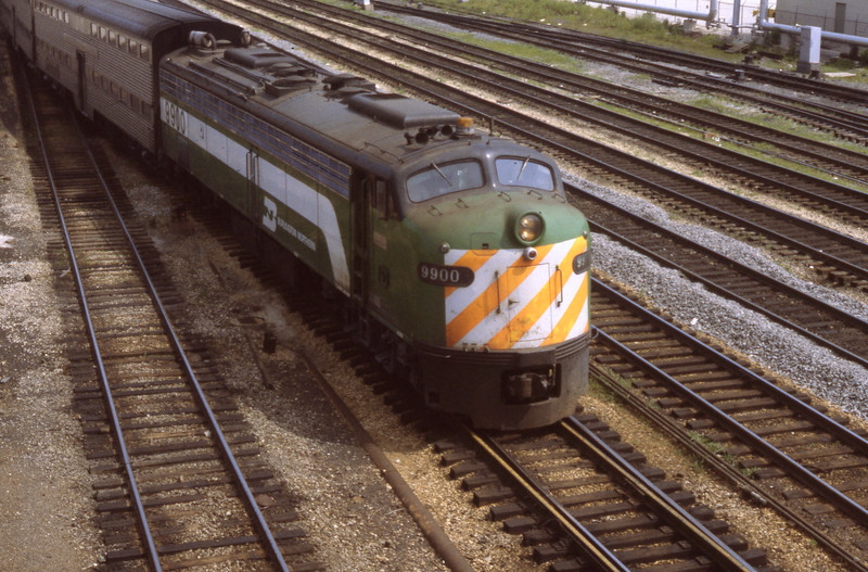 Chicago Suburban Service:  BN #9900<br /> (Photo by William A. Shaffer)