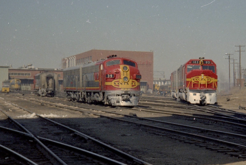 The Old and the New meet at Argentine Yard (1968).<br /> (Photo by William A. Shaffer)