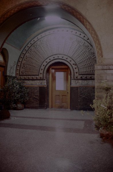 Decorative facade in the Grand Hall of St. Louis Union Station (circa 1973)<br /> (Photo by William A. Shaffer)
