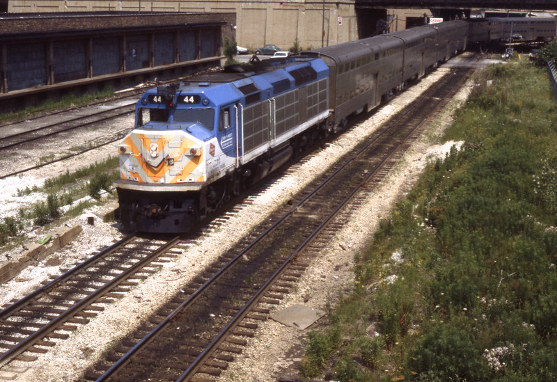 Chicago Suburban Service #44<br /> (Photo by William A. Shaffer)