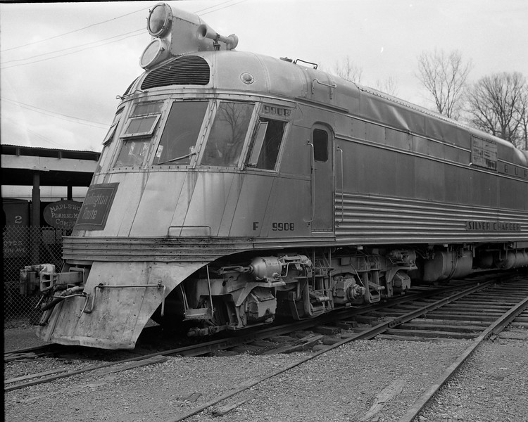 """CB&Q #9908 """"Silver Charger"""" from the """"General Pershing Zephyr"""" on display at the National Museum of Transport in St. Louis, MO<br /> (Photo by William A. Shaffer)"""