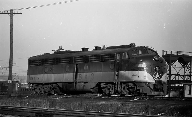 B&O E-Unit #1460 near Washington, D. C.  (1969)<br /> (Photo by William A. Shaffer)