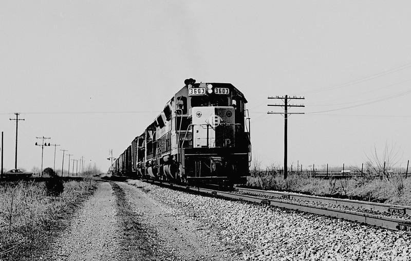 Erie-Lackawanna #3603 near Galesburg, IL<br /> (Photo by William A. Shaffer)
