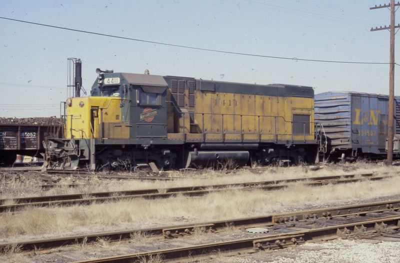 C&NW #4411 at E. St. Louis, IL<br /> (Photo by William A. Shaffer)