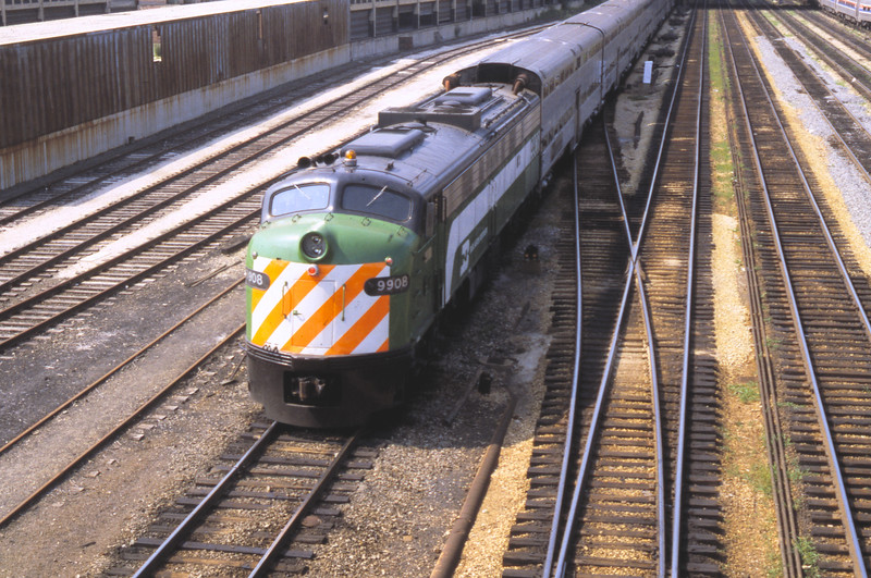 Chicago Suburban Service:  BN #9908<br /> (Photo by William A. Shaffer)