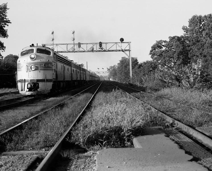 CB&Q #9950 near Galesburg, IL.<br /> (Photo by William A. Shaffer)