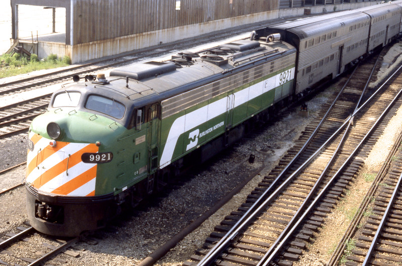 Chicago Suburban Service:  BN #9921<br /> (Photo by William A. Shaffer)