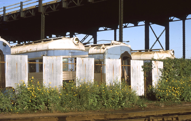 Illinois Terminal Streamliner Equipment in the Scrap Yard at St. Louis, MO<br /> (Photo by William A. Shaffer)