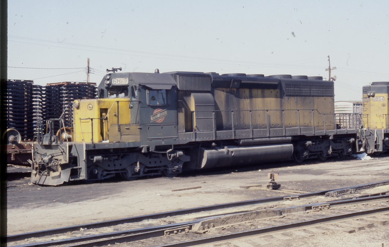 C&NW #6887 at E. St. Louis, IL<br /> (Photo by William A. Shaffer)
