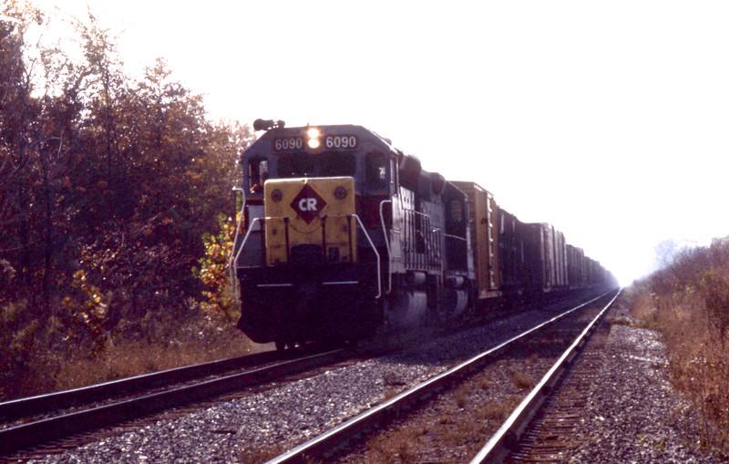ConRail ex-E-L #6090 near Troy, IL<br /> (Photo by William A. Shaffer)