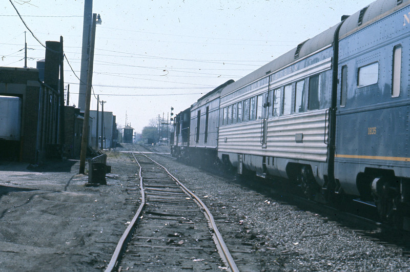 """The """"Cannon Ball"""" glides by where I am standing, trying to make every photo count!  I see the dining car and realize that I ate my first dining car meal in that very car back in 1958.<br /> (Photo by William A. Shaffer)"""