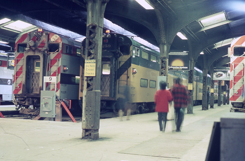 Trackside at Northwestern Station<br /> (Photo by William A. Shaffer)
