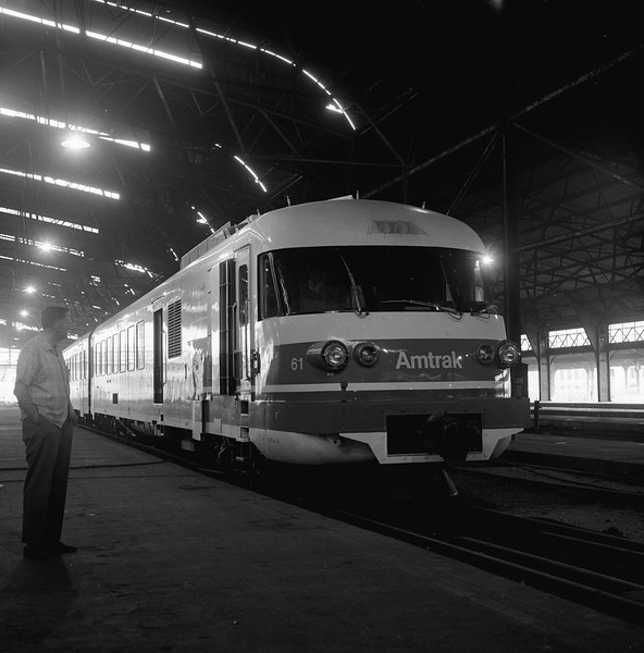 Amtrak Turbo-Train at St. Louis, MO  (Circa 1973)<br /> (Photo by William A. Shaffer)