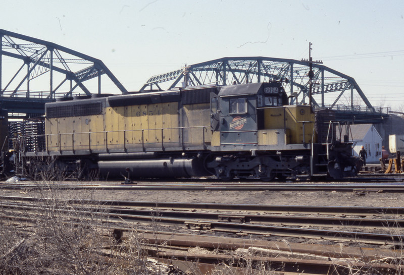 C&NW #6854 at E. St. Louis, IL<br /> (Photo by William A. Shaffer)