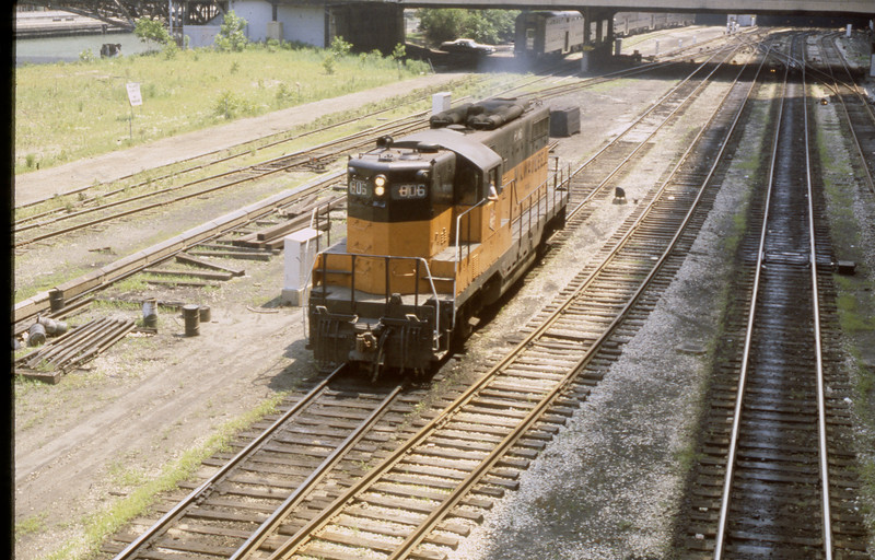 Milwaukee Road Locomotive #806 at Chicago, IL<br /> (Photo by William A. Shaffer)