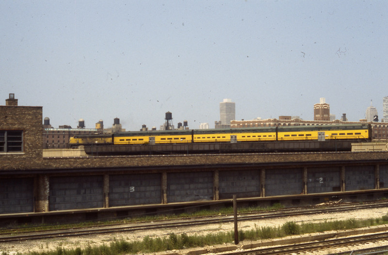 C&NW Commuter Train just outside of Northwestern Station in Chicago, IL<br /> (Photo by William A. Shaffer)