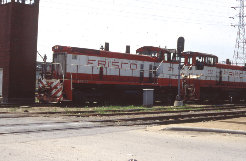 Frisco Switchers #324 & #332 at St. Louis, MO<br /> (Photo by William A. Shaffer)