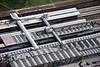 Aerial photo of Sheffield Railway Station.