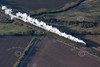 Steam train from the air.
