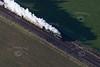 Steam train from the air.