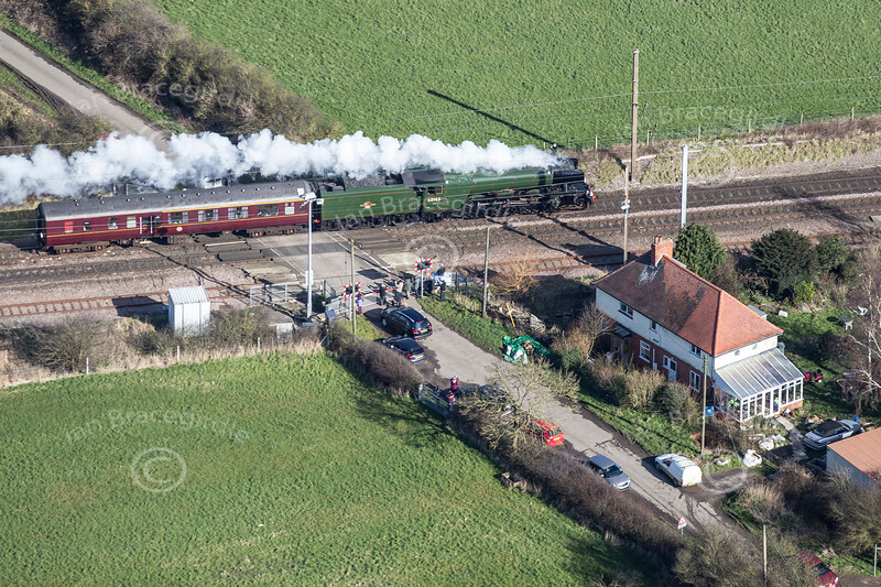 Aerial photo of The Flying Scotsman.