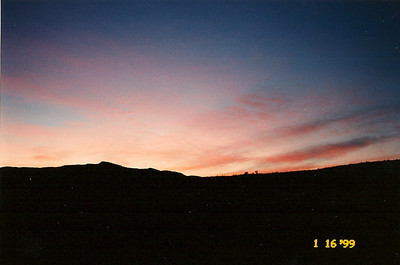 1/16/99 View from Owl Canyon Campground, Rainbow Basin Natural Area. San Bernardino County, CA