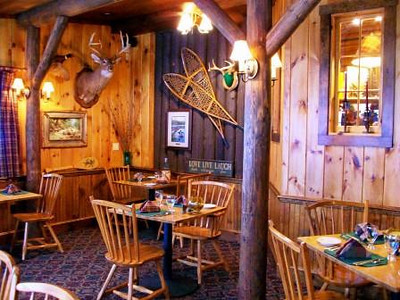 Rainbow Grille dining room. Casual, cozy and rustic atmosphere.