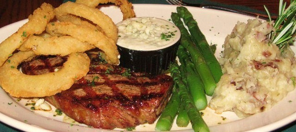 Tasty steaks at the Rainbow Grille